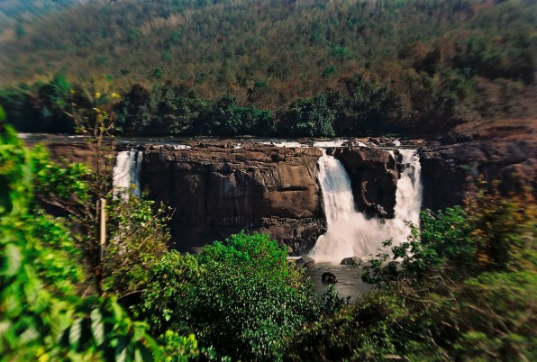 The magnificent Athirapally falls are in danger of drying up
