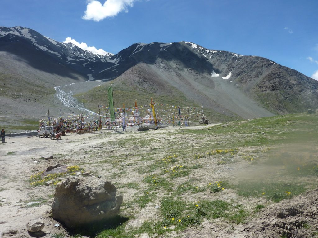 The Kunzam Pass on a bright sunny day in August 2010