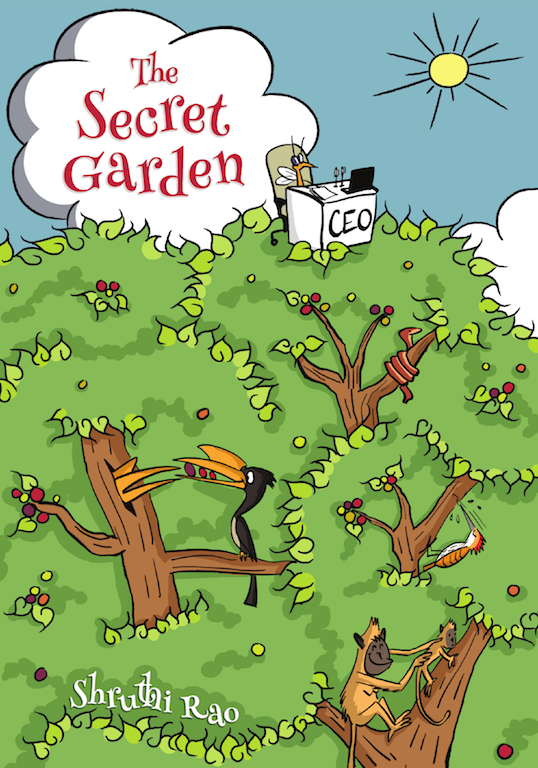 The cover page of the book authored by Shruti Rao and illustrated by Rohan Chakravarty